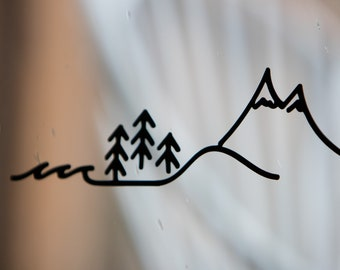 Outdoor Adventure Vinyl Decal - Oceans to Mountains