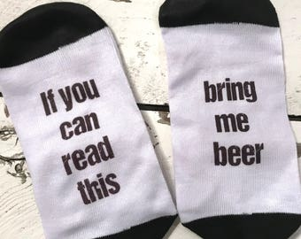 Beer Socks Men Socks If you can read this
