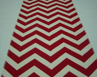 11 x 108 Inch Red Chevron (Zig Zag) Table Runner