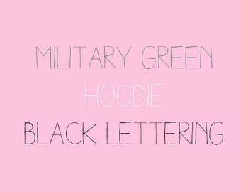Military Green & Black