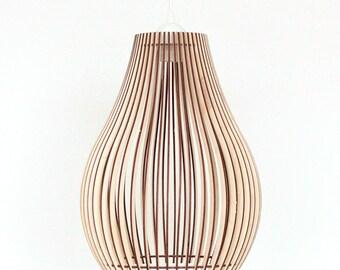 Wood Lamp / Wooden Lamp Shade / Hanging Lamp / Pendant Light / Decorative Ceiling  Lamp