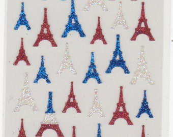Eiffel Tower Stickers - Paris Stickers - Glitter Stickers - Mind Wave Stickers - Reference F1222F1621F1740F2742