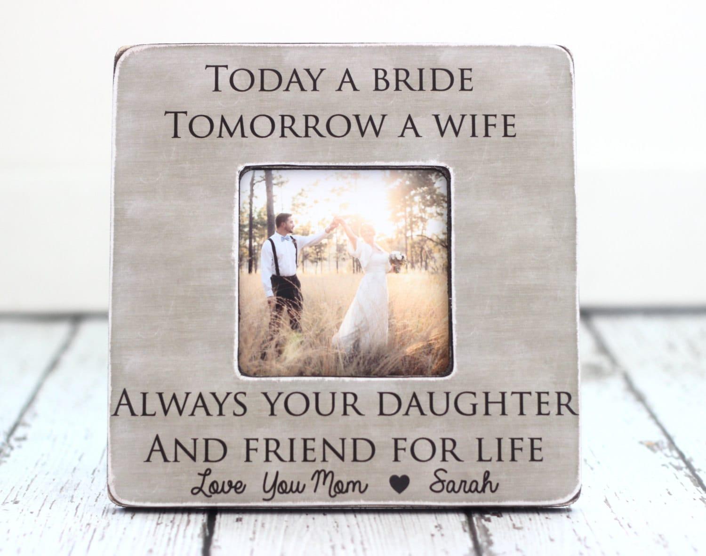 Mom Wedding Gift: Mom Mother Wedding Thank You Gift Today A Bride Tomorrow A