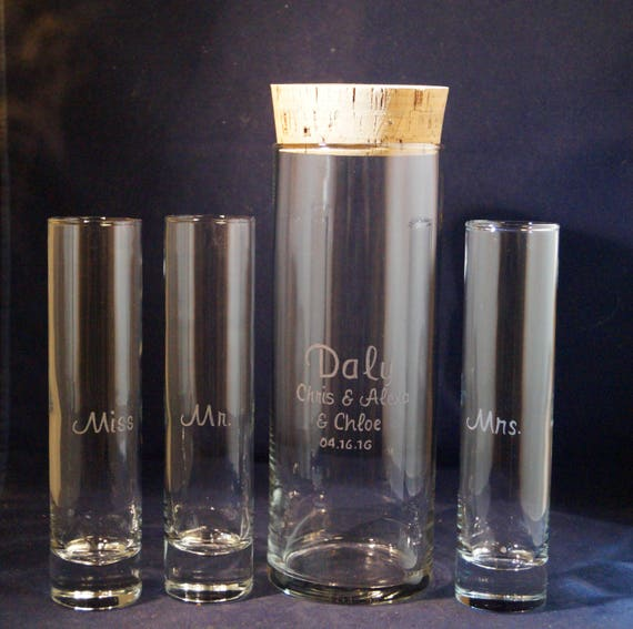 4 Piece Unity Sand Ceremony Set With 9 X 3 Vase Cork Lid