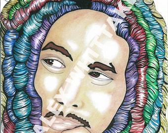 Bob Marley print A3