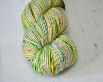 "Limited Edition - Hand Dyed Yarn - Fingering weight - ""Hopscotch"" Colorway - Hand Dyed Yarn - Socks - Shawl"
