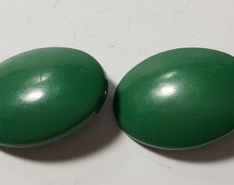 Vintage Rare Bakelite Green On Clip Earrings/Vintage Jewelry/1960's.