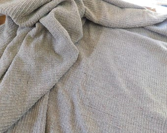 Vintage Brown Knit Fabric Piece, Knobby Texture, 3 Yards at 60 Inches Wide US Ship Free!