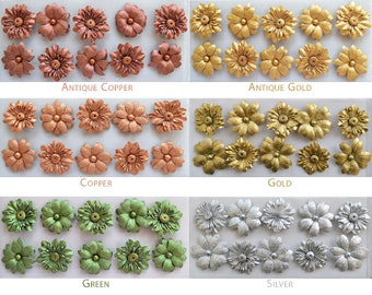 Metallic Paper Flowers, Artificial Flowers, Flower Decorations, Crafting Flowers, Flower Embellishment, Favor Box Decor, Wedding Decor,