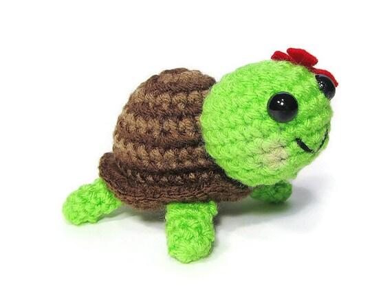 Amigurumi Turtle : Crochet turtle amigurumi turtle kawaii turtle mini