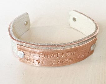 Anniversary Gift Idea Latitude Longitude Bracelet GPS Coordinates bracelet Leather Gift Copper 7th wedding Anniversary Personalized