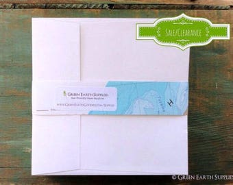 "OVERSTOCK:  100 5"" white square envelopes, 5x5"" squared recycled envelopes, sale, eco-friendly envelopes"