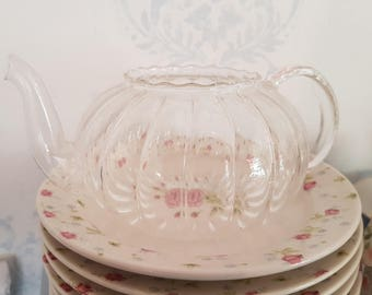 Vintage glass teapot