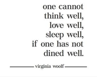 "Virginia Woolf Poster Printable - 36"" x 24"" HORIZONTAL"
