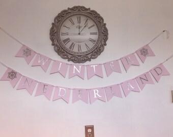 Winter Onederland Birthday Banner (Add Name)