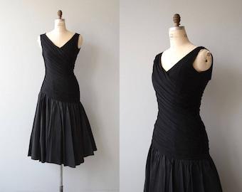 Belladonna dress | vintage 1950s dress | black 50s party dress