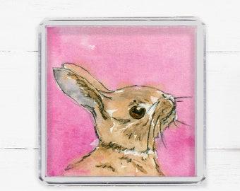 Easter Bunny Fridge Magnet, Easter Bunny Gift, Gift Under 5, Kitchen Decor For Easter