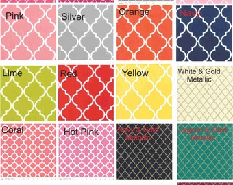CHANGING PAD COVER - Quatrefoil Contoured Changing Pad Cover - You Choose the Color - Metallic Colors