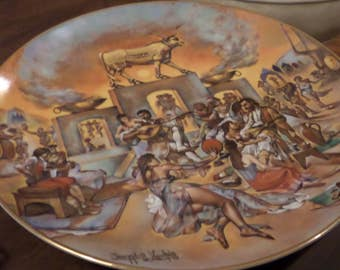 """STUNNING Collector's Plate! """"The Golden Calf"""" Plate 10 of 12 in The Promised Land by Yiannis Koutsis"""