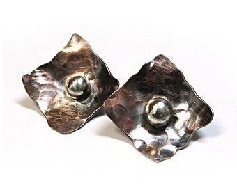 Copper Stud Earrings Metalsmith - Modern Relic Post Earrings