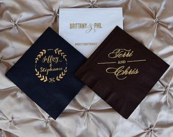 Custom Party Napkins, Personalized Printed Napkins, Party Decoration Napkins, Wedding Shower Napkins, Engagement Party Napkin