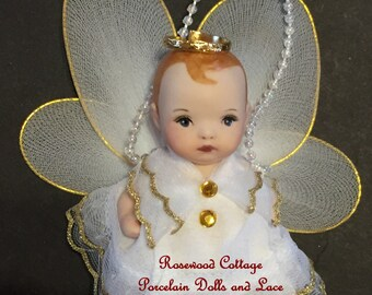 Porcelain Doll Christmas Angel
