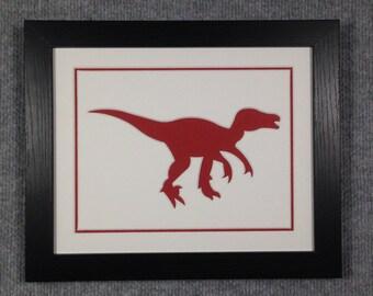 Red Dinosaur Framing