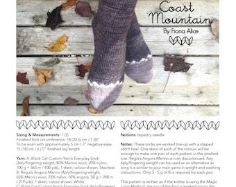 Coast Mountain Socks - PDF Knitting Pattern