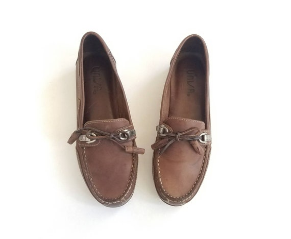 Beach Boat Deck Hipster Leather Womens Tassel Aztec Brown Boho 6 Vintage Dress Shoes Spring Hippie Shoes Fashion Loafers Casual Unisa Preppy nawqZfpT