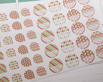 Tear Drop and Half Circle Planner Stickers Erin Condren Christmas Stickers Calendar Stickers Reminder Stickers Scrapbook Stickers PS177