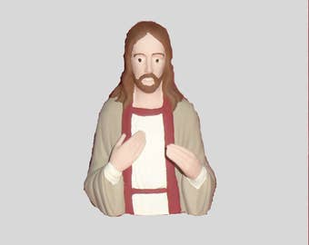 Jesus Ceramic Figurine. Hand Painted. Great Easter Decoration.