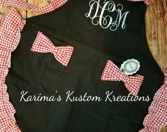 Monogram Apron, Personalized apron, cooking apron, embroidered apron, gift for her, mother's day gift, bride to be, bride gift