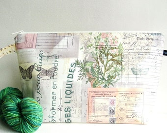 Wedge Bag, Sweater Project Size Knitting Bag, Wallflower Botanical