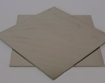 "Nickel Silver Sheet 6"" square."