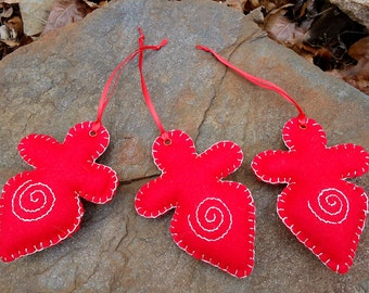 Goddess (Red) - Set of 6 Tree Ornaments