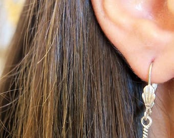 MOTHERS DAY GIFT, Feather Dangle Earrings, Silver Feather Earrings, Feather Earrings, Feather Silver Earrings, Dangle Earrings, For Her