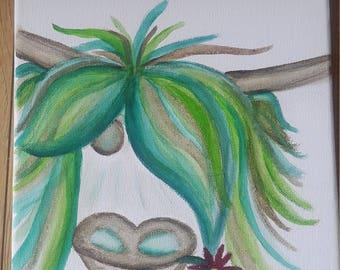 Beautiful  Highland Coo watercolour