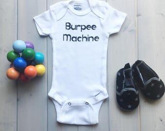Funny Baby Onesie, Baby Crossfit Onesie, Baby Fashion, Crossfit Baby, Fitness Onesie, Gym Baby Onesie, Burpee Baby Onesie, Funny Gym Baby