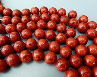 Red Sponge Coral Bead,16MM Red Apple Coral Beads,Sponge Coral Round Bead,16MM Coral Bead,Red Coral Bead 16MM, Apple Sponge Coral, Coral Ball