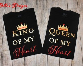 King and Queen of my heart T-Shirt Set