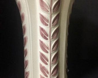 Vintage Red Wing Leaf Vase