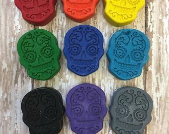 50 Sugar Skull Day Of The Dead Día de Muertos  Crayons - Halloween Party Favors - Disney Coco Party - Teacher Supply