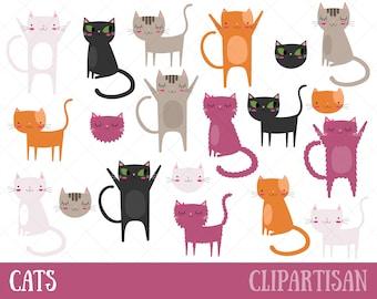 Cat Clipart | Kitten Clip Art | Pets Clipart