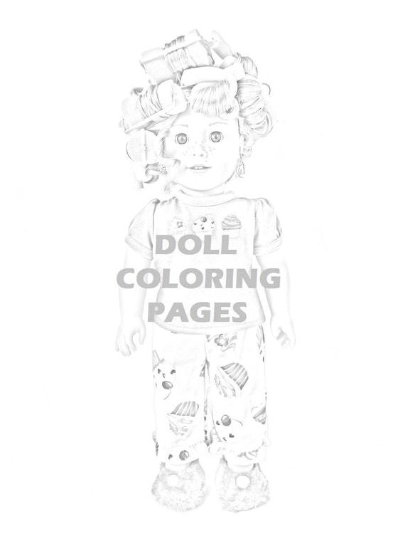 Großzügig Amerikanische Mädchen Puppe Malvorlagen Fotos ...