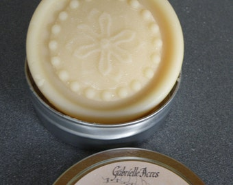 Solid Lotion Bar - Jasmine Sambac Lotion Bar - All Natural in Travel Tin
