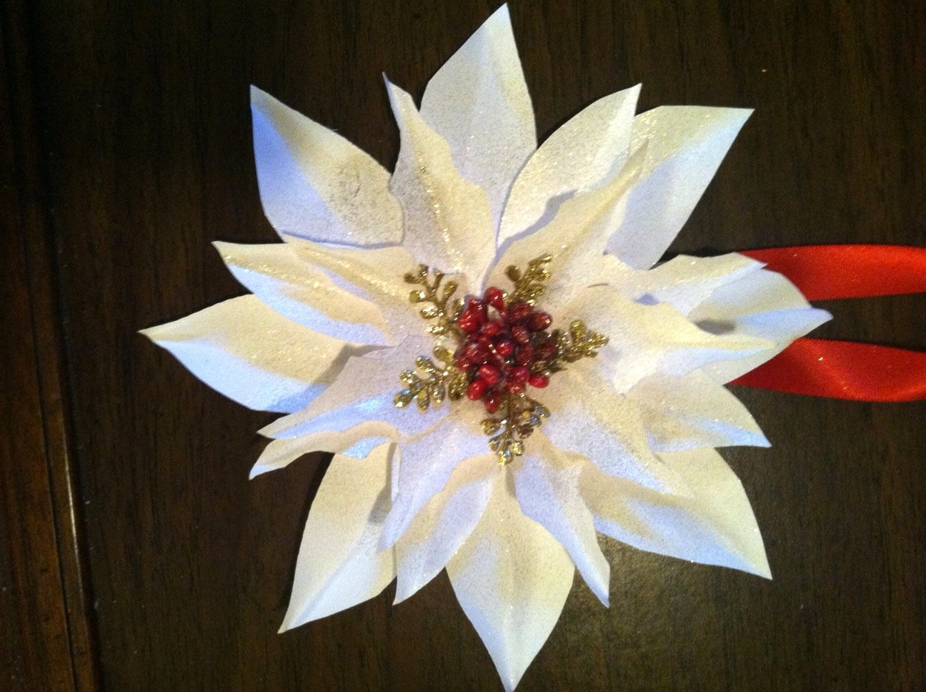 Paper flower poinsettia christmas ornament 8 zoom mightylinksfo