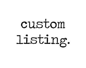Custom soccer listing