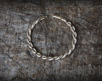 Aggersborg Bracelet L size, Silver Plated, Viking Braided Bracelet, Viking Arm Ring, Norse Jewelry, Scandinavian Jewelry