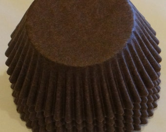 FREE SHIP! in USA Brown Baking Cups Approximately 100 Cups.
