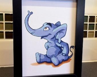 Elephant / Baby Room / Nursery / Zoo / Jungle / Animals / Wall Art